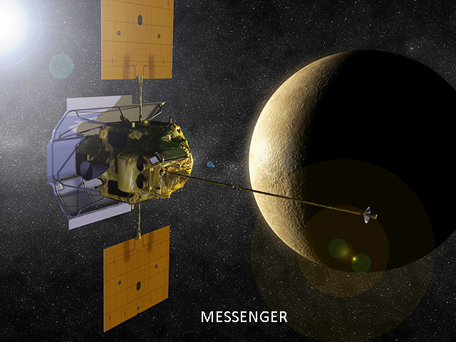 MESSENGER: MESSENGER was a NASA robotic spacecraft that orbited the planet Mercury between 2011 and 2015, studying Mercury's chemical composition, geology, and magnetic field.