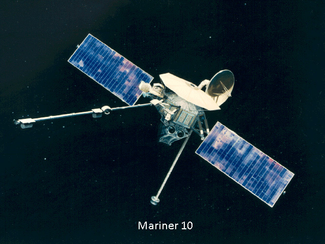 Mariner 10 was an USA robotic space probe launched by NASA on November 3, 1973, to fly by the planets Mercury and Venus.